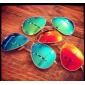 Зеркальные очки с золотой оправой AVIATOR 3025 112/67