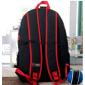 Чёрный рюкзак с губами Nikki Nanaomi Backpack Black Red Lips
