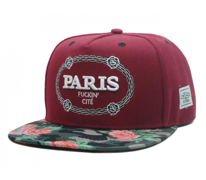 -38% Бейсболка с прямым козырьком Cayler   Sons Snapback Paris Fuckin Cite  Red Flower 3bf70d41879b6