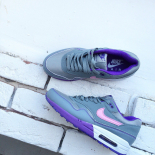 Женские серые кроссовки Nike Air Max 1 87 Essential Premium QS Gray Violet